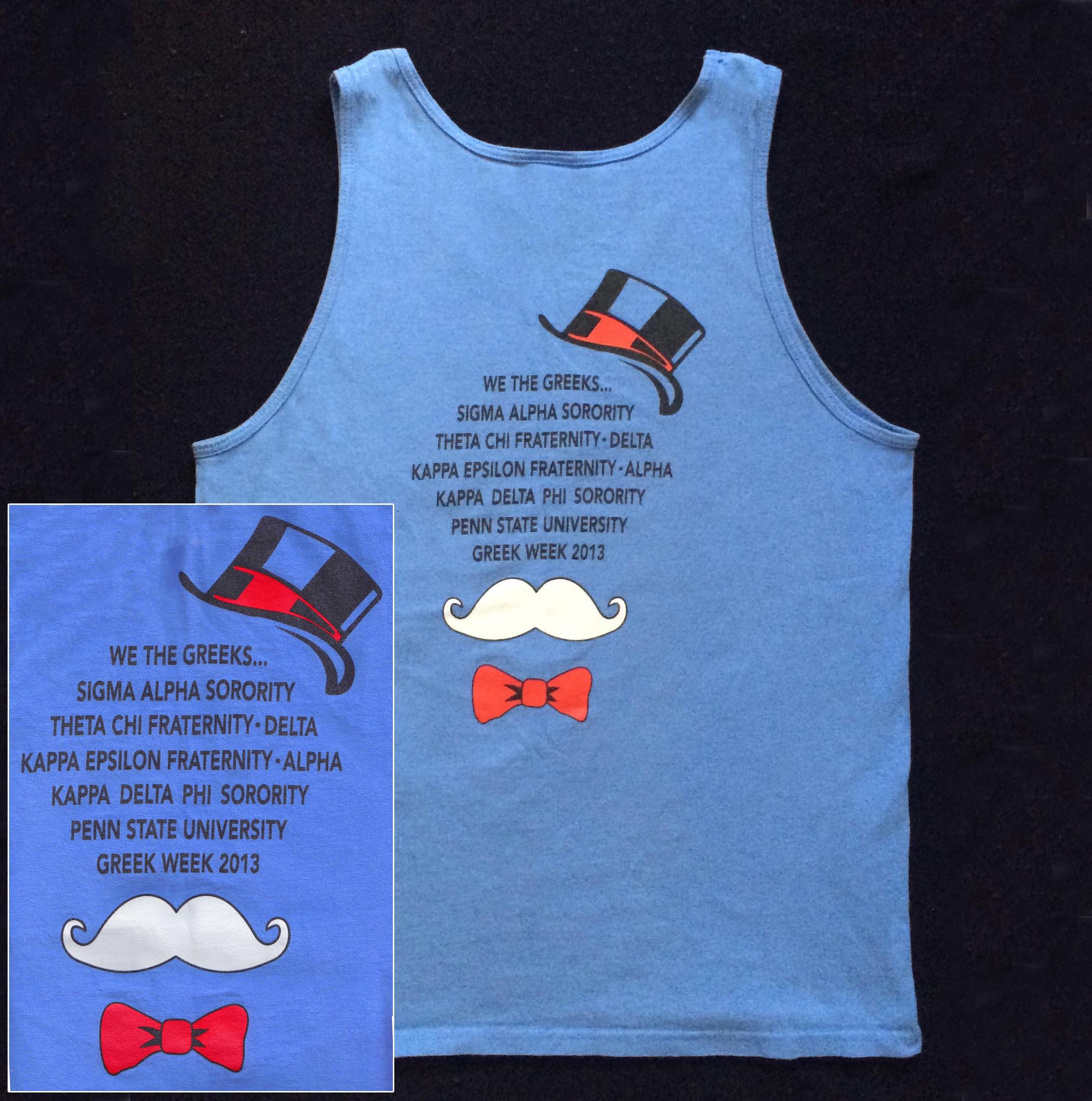 2013 Greek Week T-Shirt (Back) - March 2013