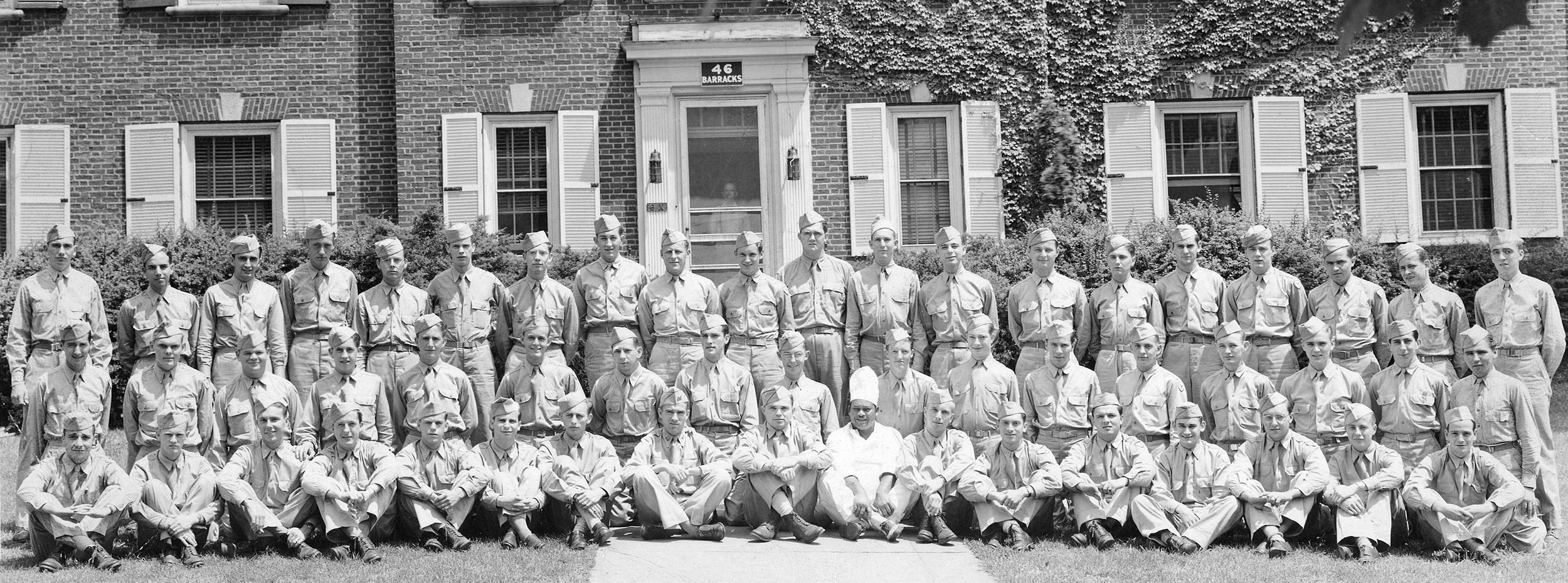 Barracks 46 - with Giffy in the bottom row in center