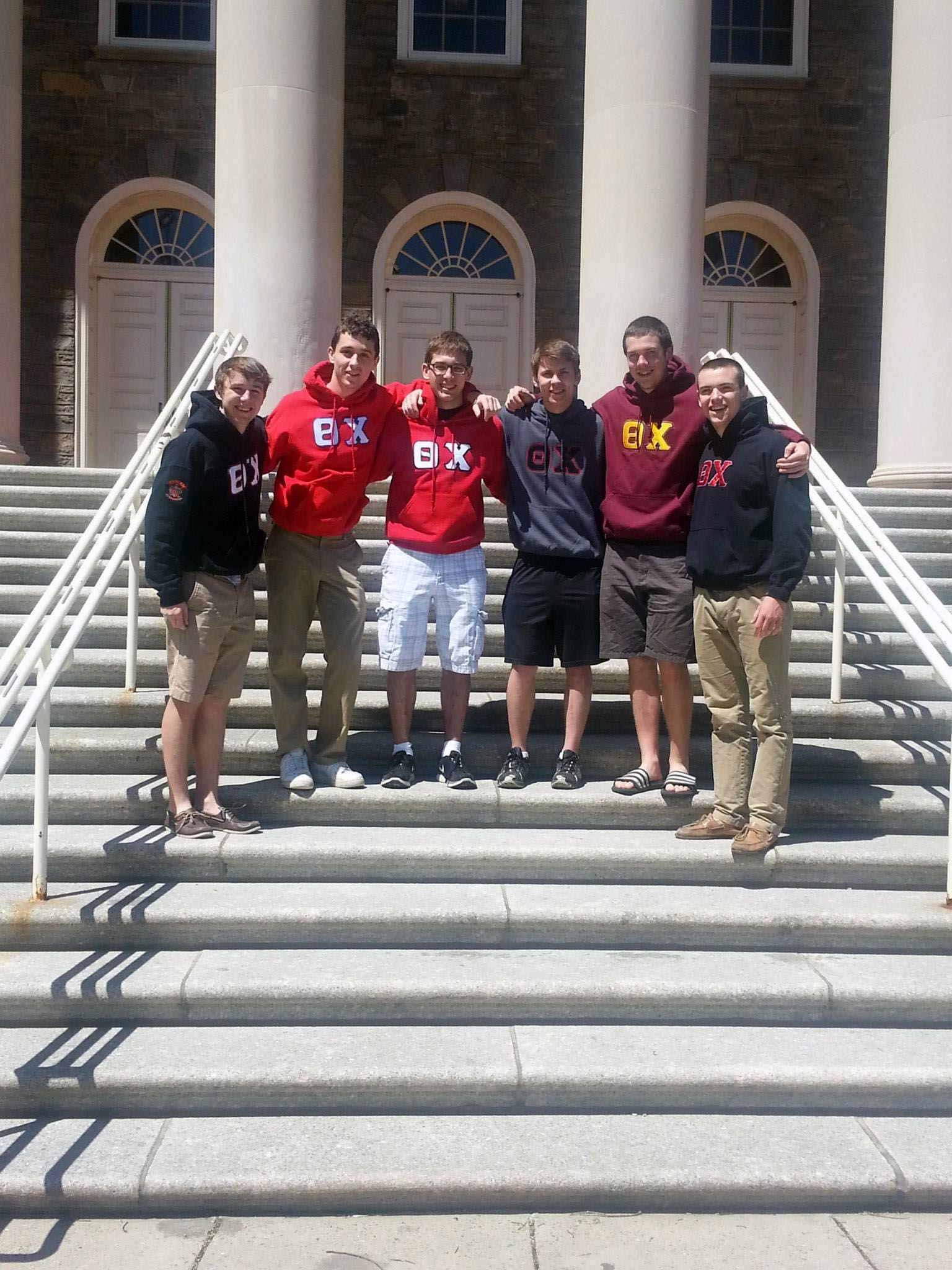 Steve Sandford, Alex Constable, Edward Brand, Ryan Gattoni and Frank Donato at Old Main - April 2014