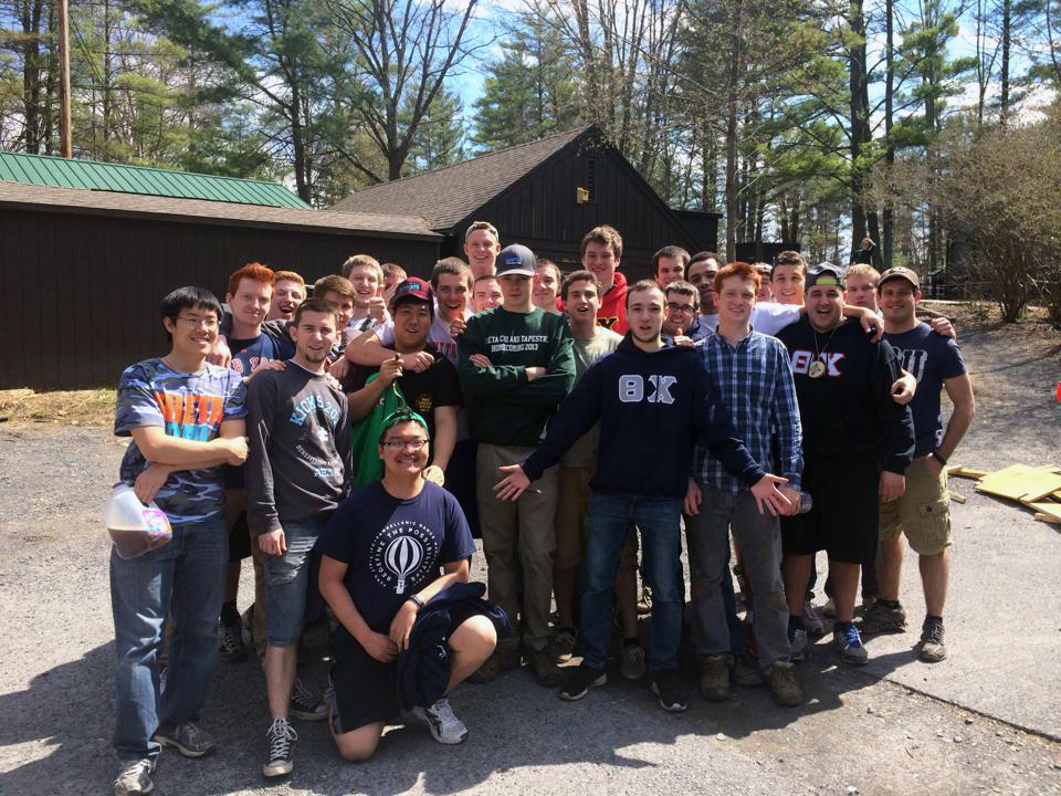 Shavers Creek - April 2014 - The Brothers volunteered and did trail work, stump work, repaired bridges and more.