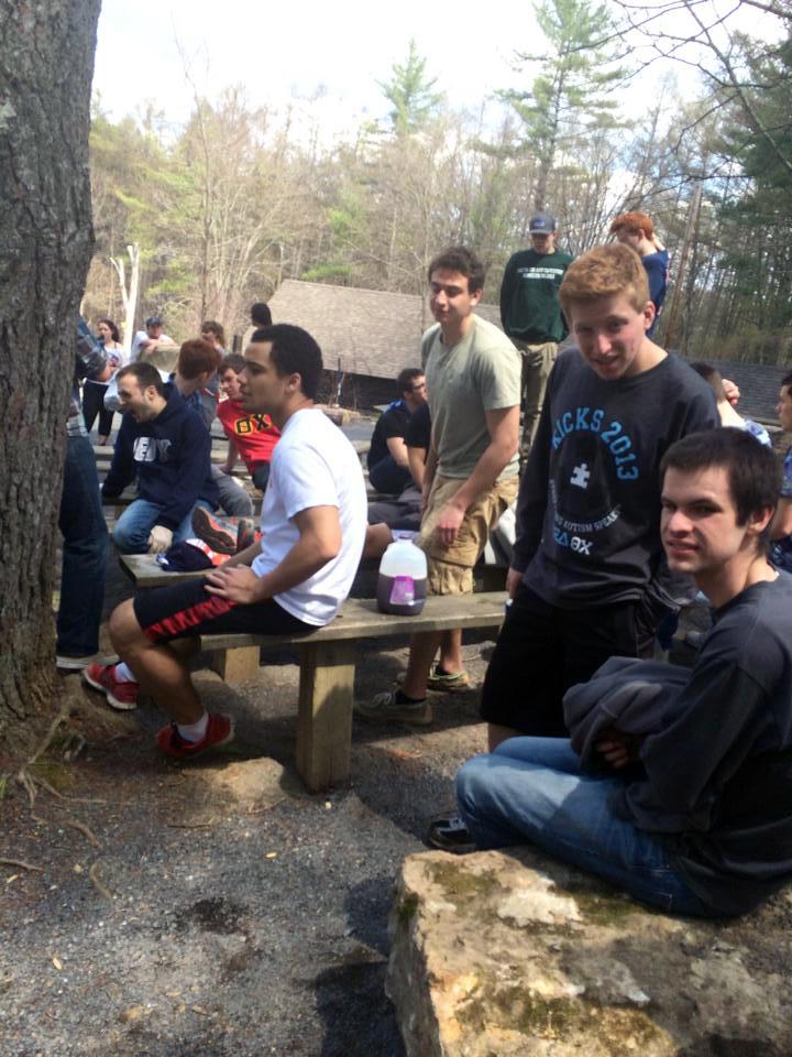 Nick Vassilakos, Michael Tapsoba, Ben Yaroslavsky, Tim, Connor DeKranis, Brian Patchett and Rory McGowan at Shavers Creek - April 2014