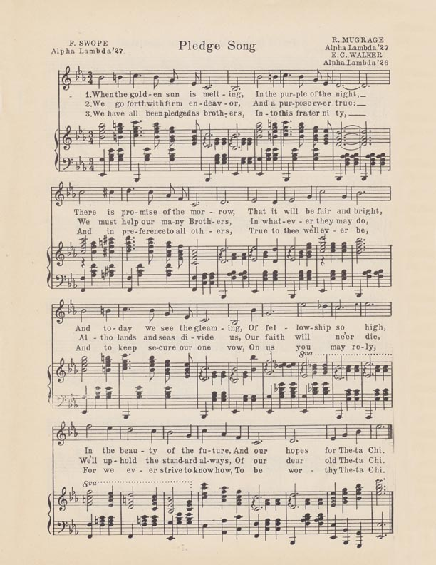 Pledge Song