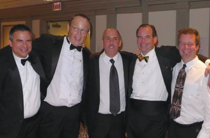 L to R: Edward M. Brown, Hugh Cadzow, Richard Maltz, Leo Sugg and Rodney D. Miller
