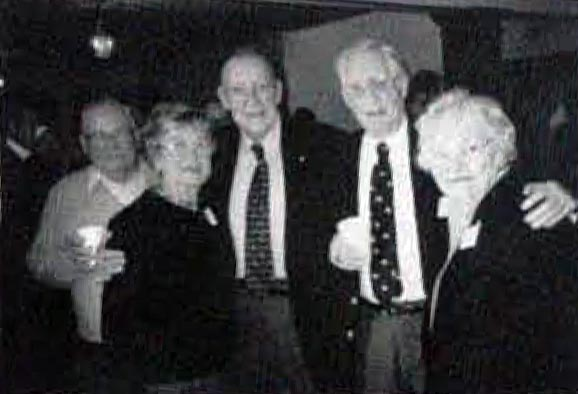 Howard R. Alter (C) wih freinds at reception for Howard Alter Day - March 2000