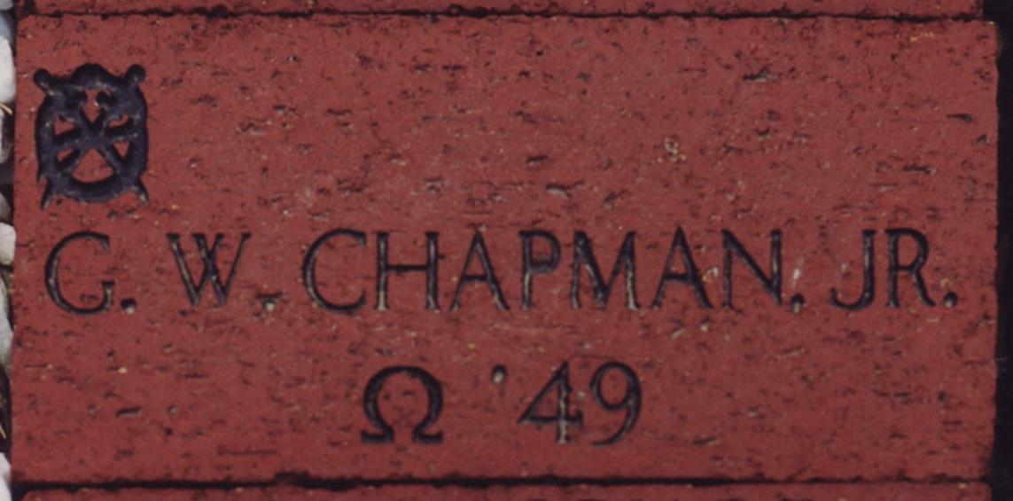 George Chapman Jr's.'49 brick