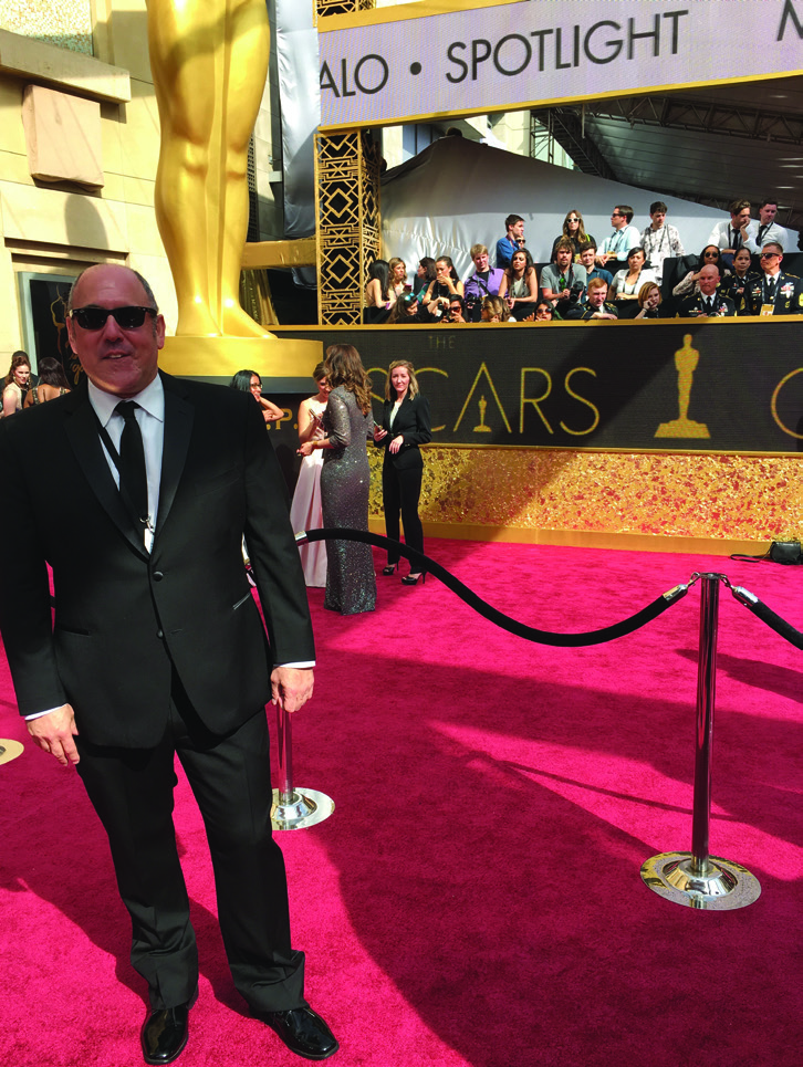 Richard Maltz '90 On the red carpet for the 2016 Oscars - not nominated just there to work.
