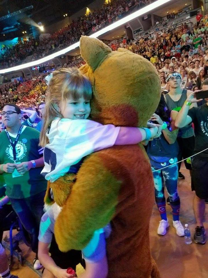 Leah Fait and Nittany Lion at THON 2017