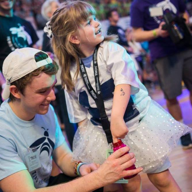 Leah Fait and Theta Chi's Stephen Sandford at THON 2017