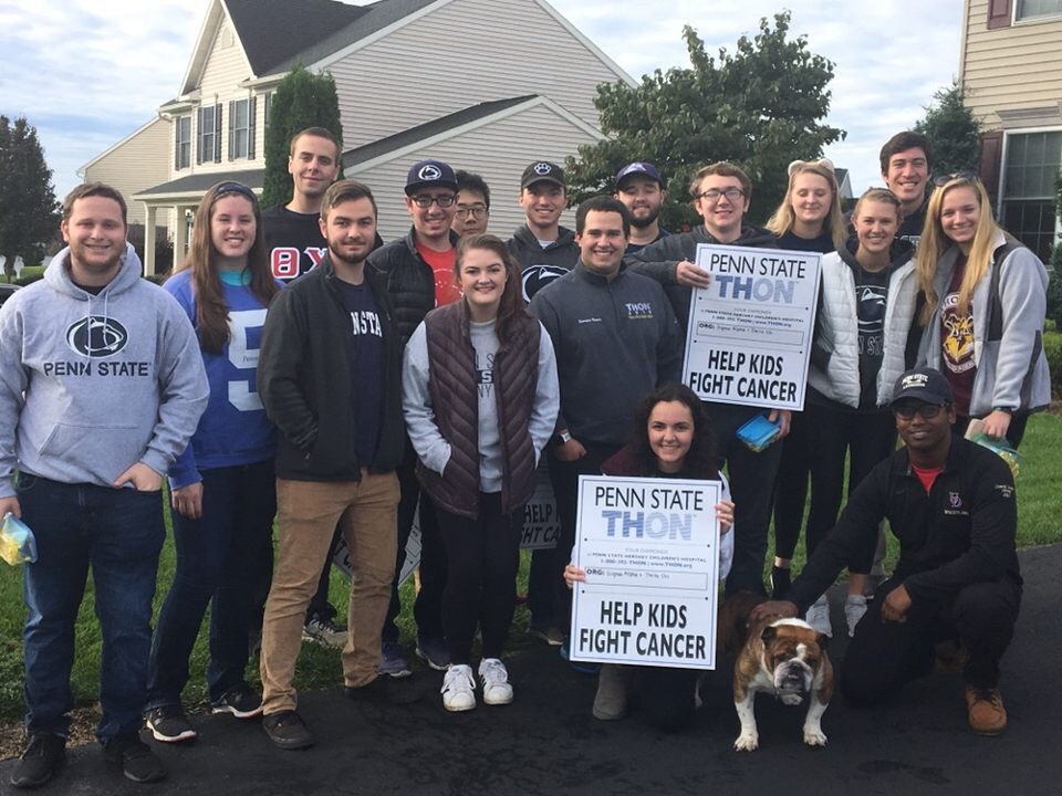 THON canvassing trip to Hershey, PA - Oct 2018