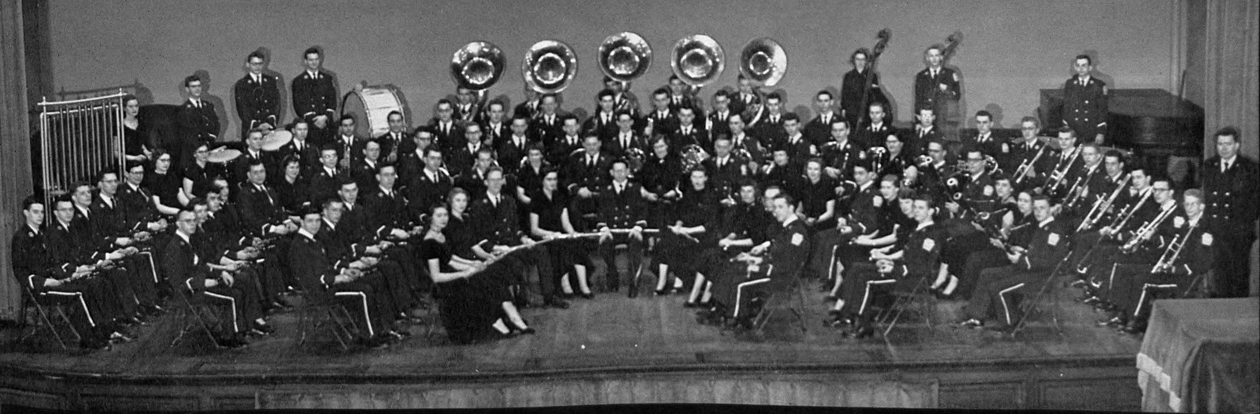 Robert Gohn '53 was in the cornet section - from the LaVie 1953 Yearbook