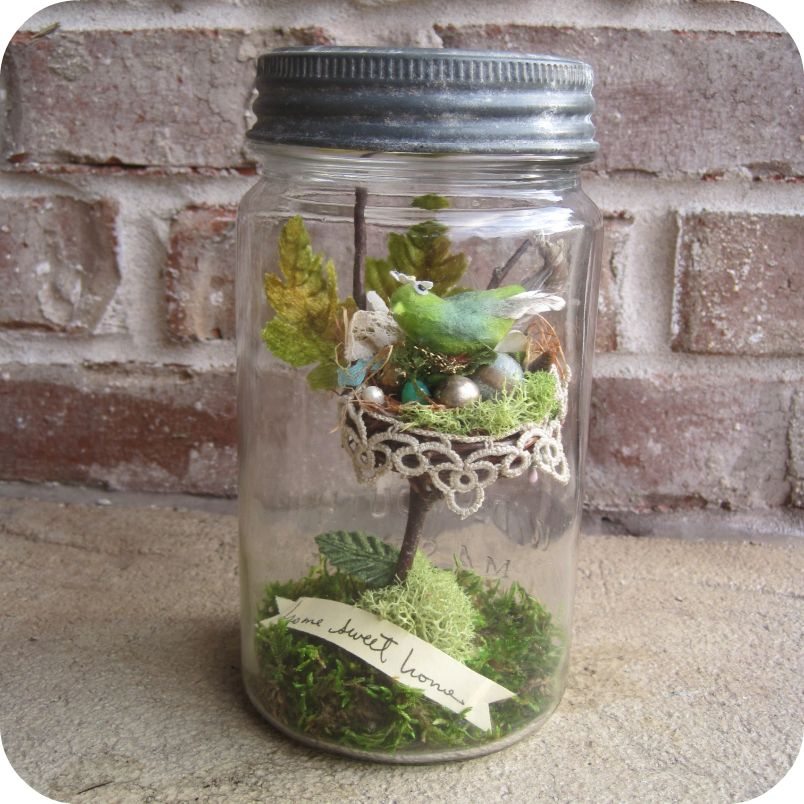 Home Sweet Jar Assemblage