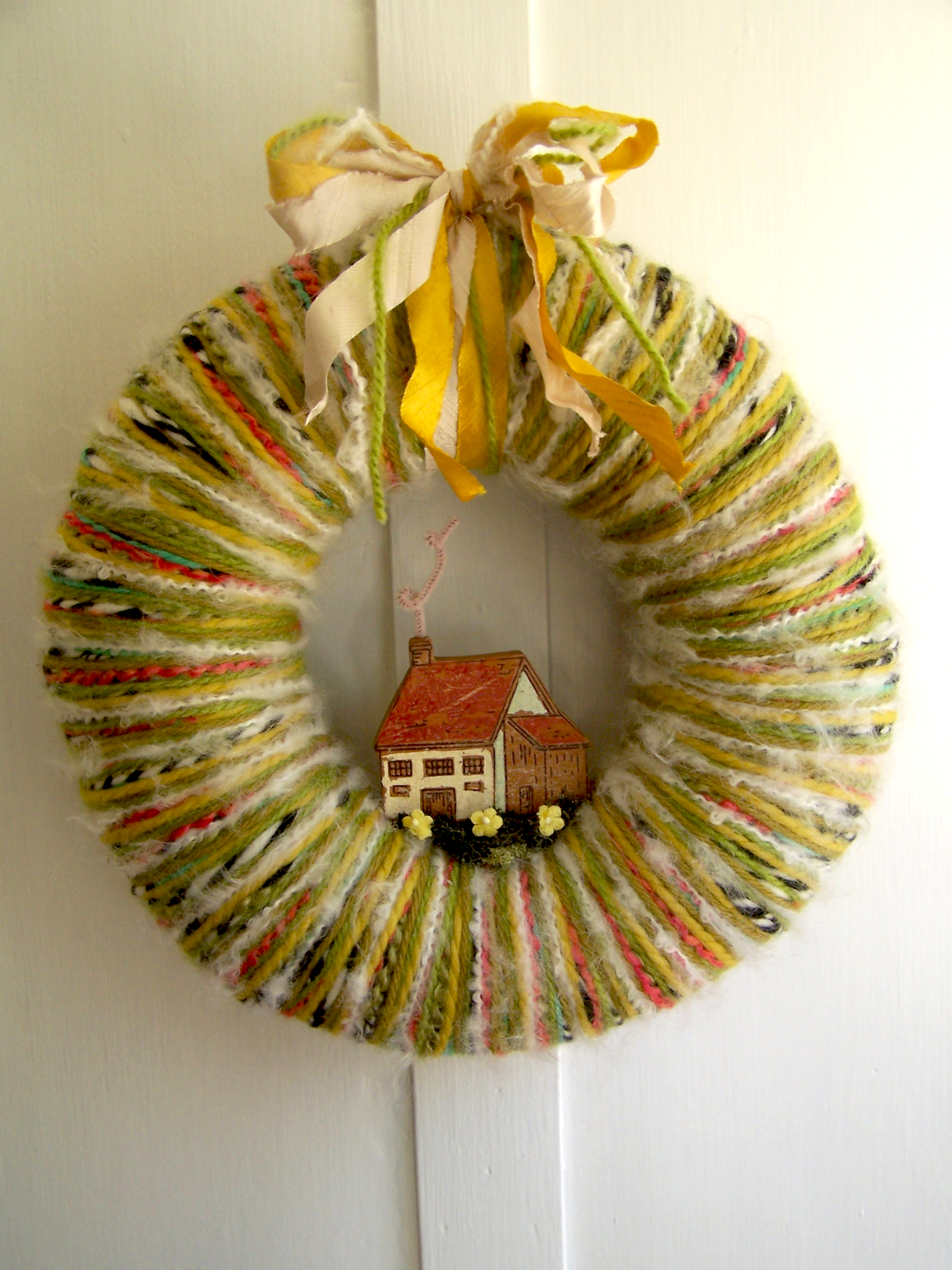 Home & Yarn Wreath