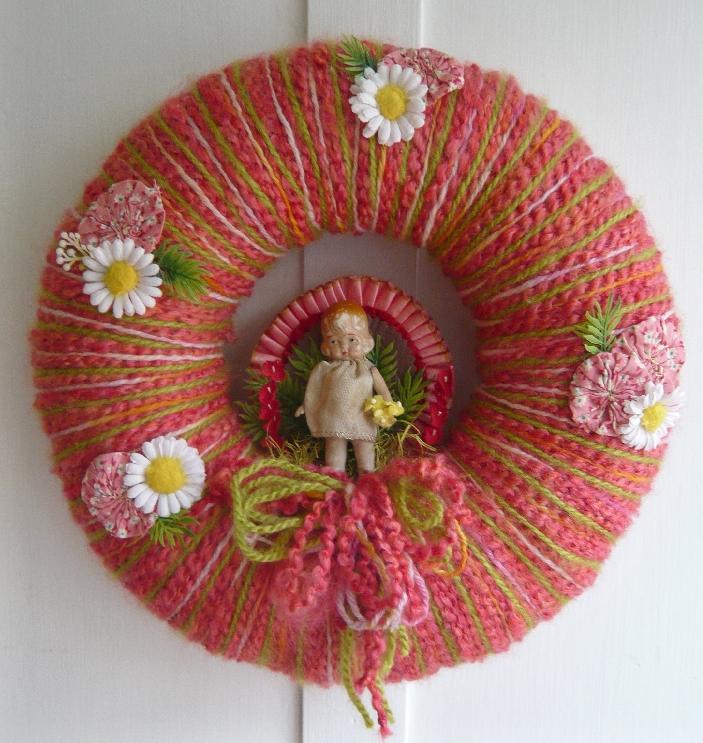 Girl & Yarn Wreath