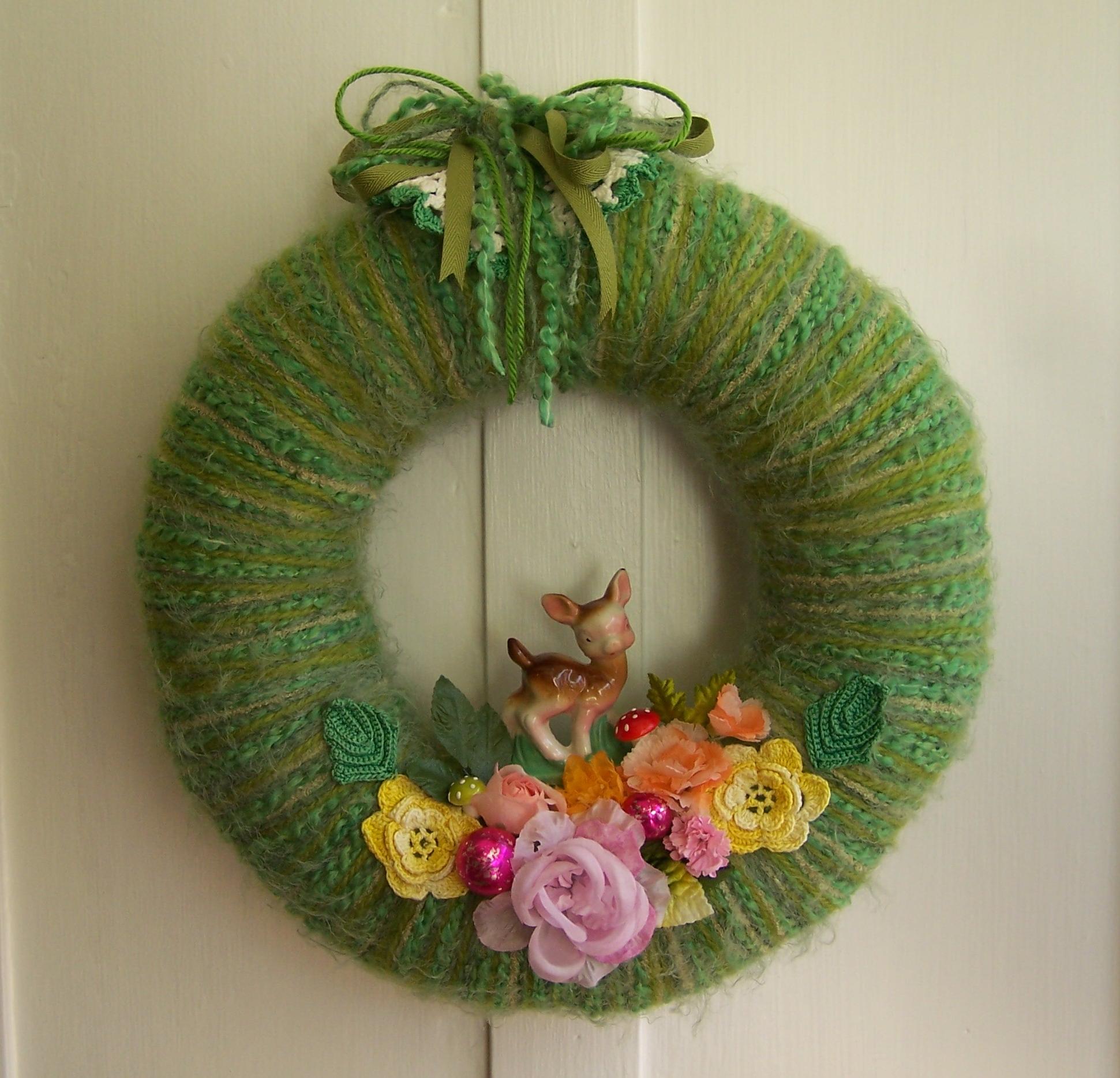 A Dear Yarn Wreath