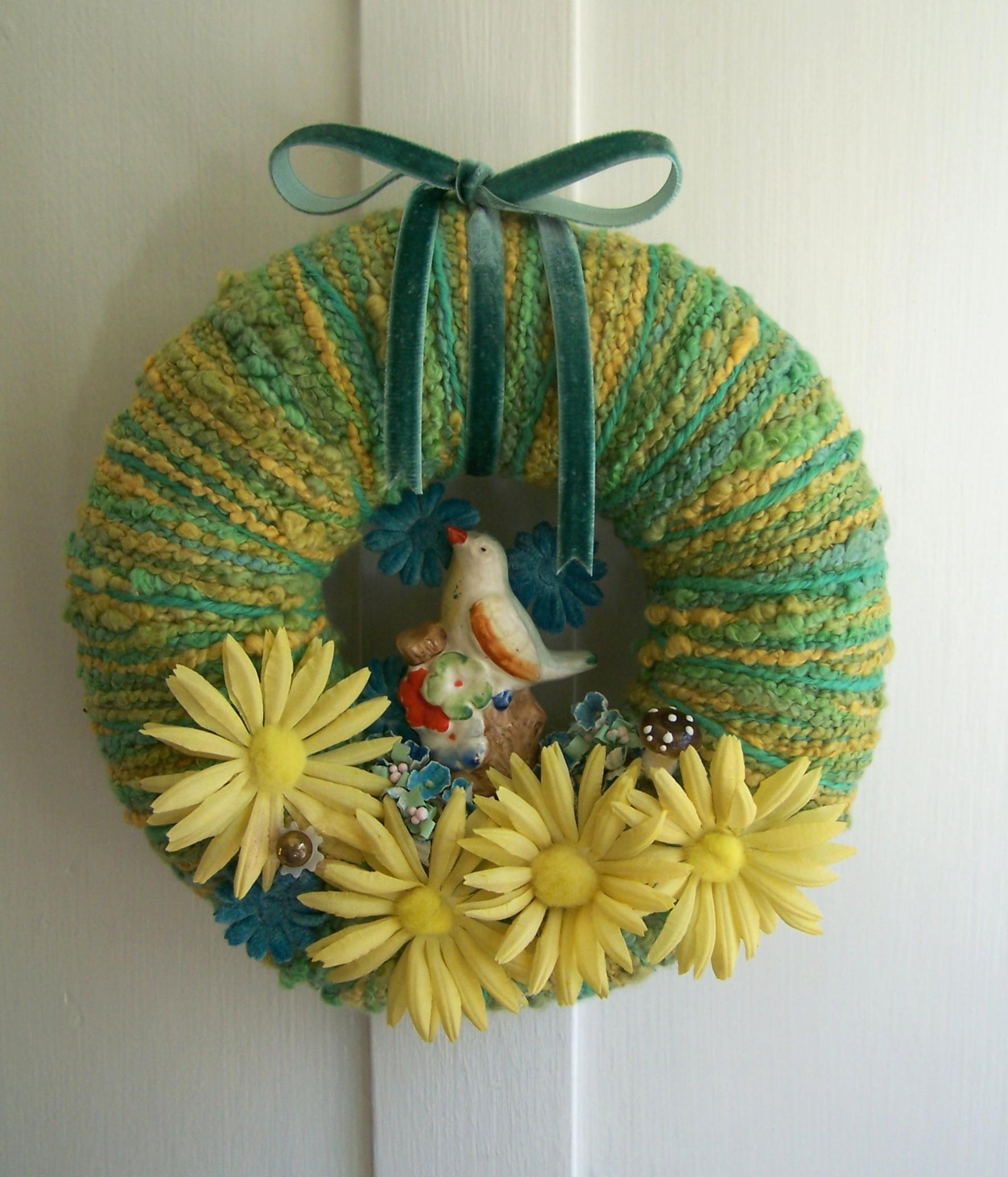 Little Bird & Yarn Wreath