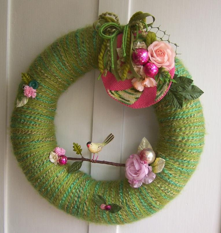 Branch & Yarn Wreath