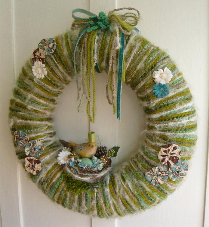 Bird Queen & Yarn Wreath