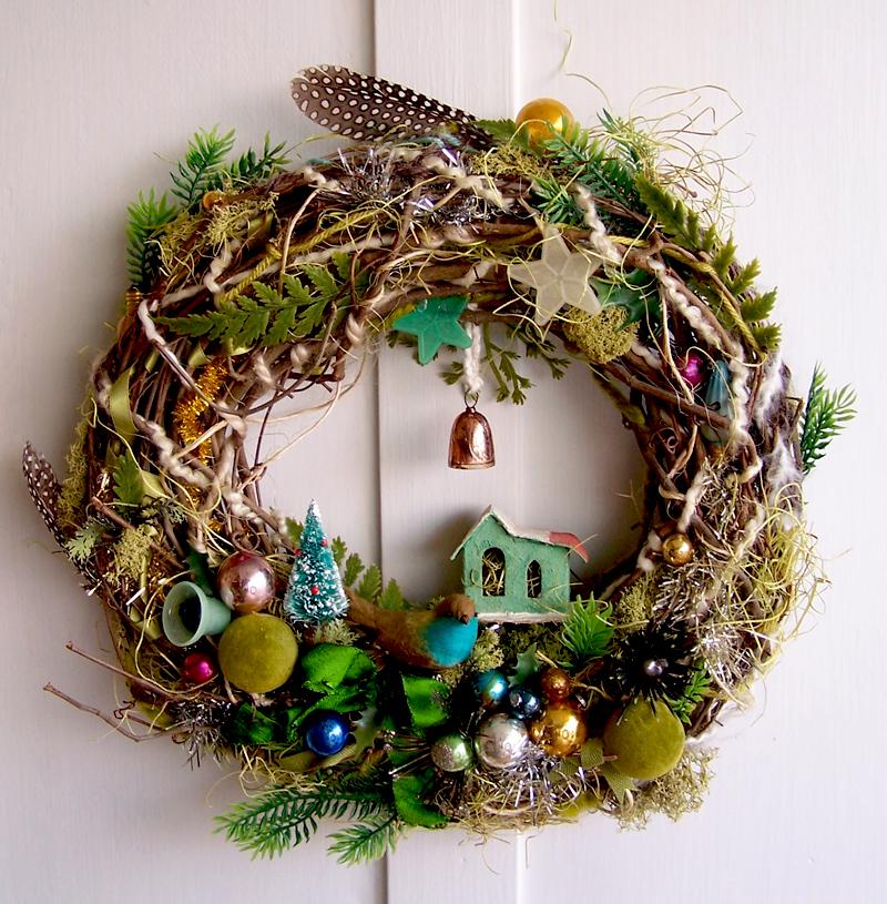 Boho Bird Wreath
