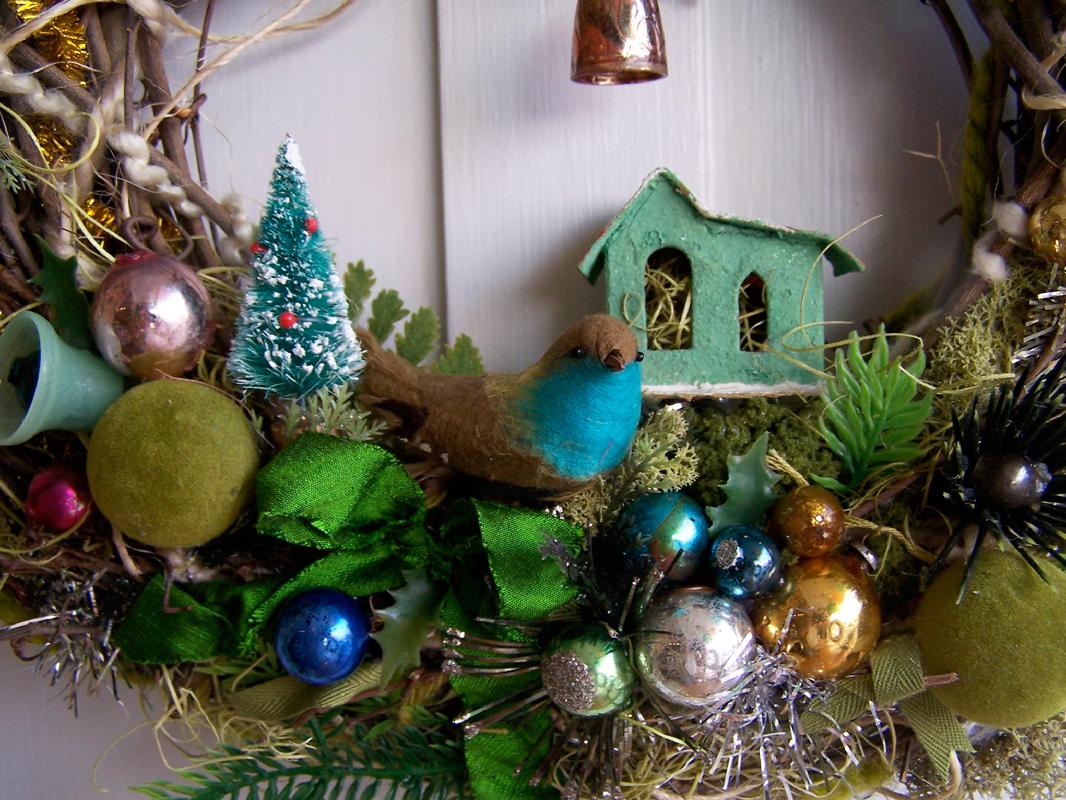 Boho Bird Wreath, detail