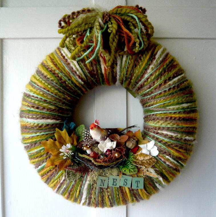 Nest & Yarn Wreath