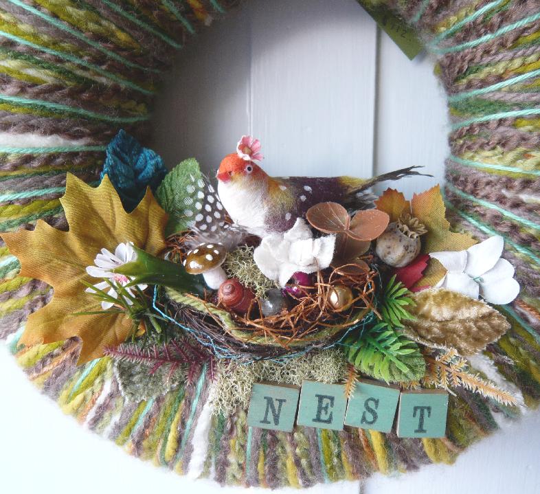 Nest & Yarn Wreath, detail