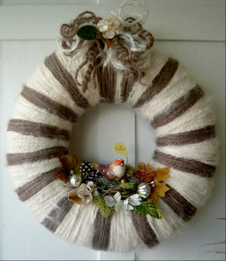 Hello & Yarn Wreath