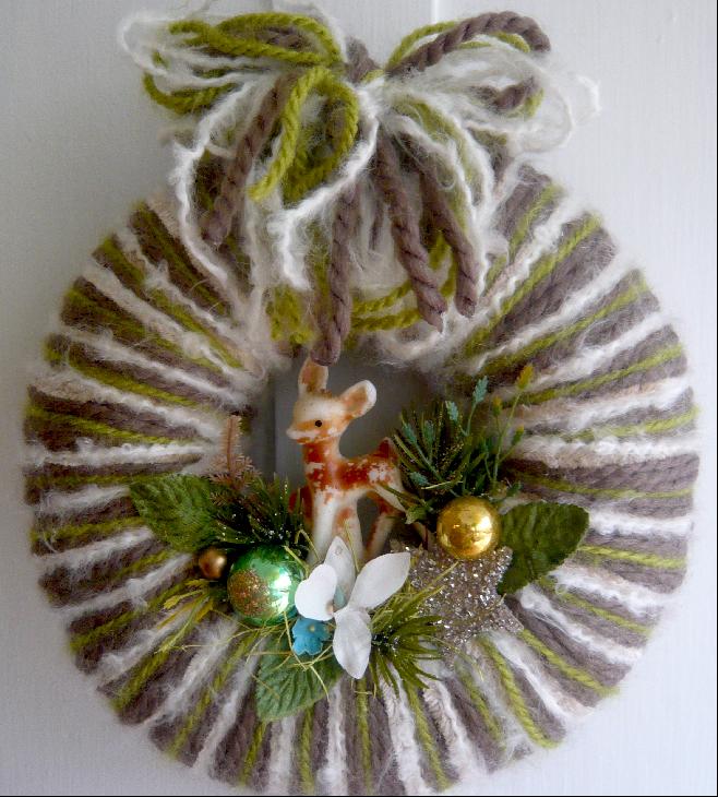 Little Dear Yarn Wreath