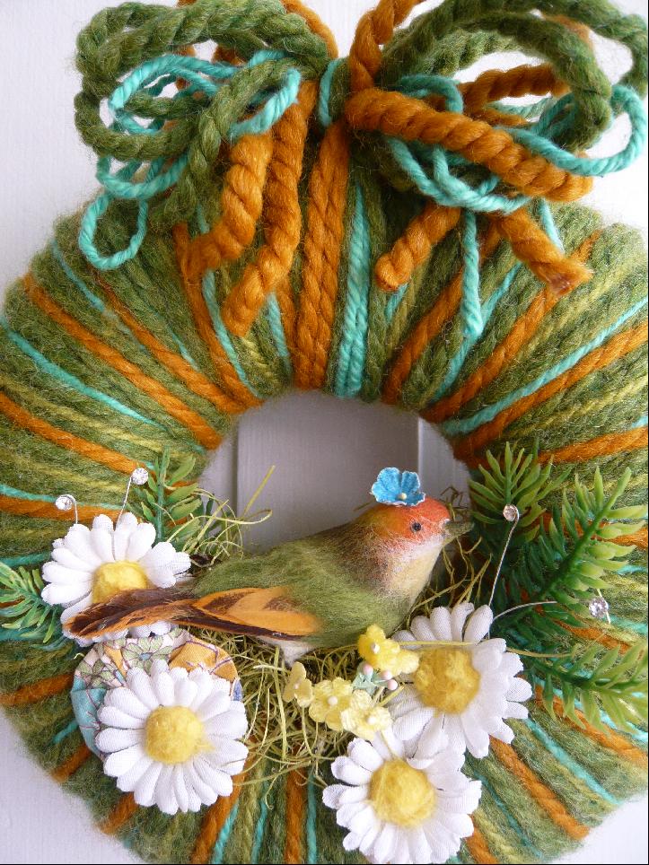 Pretty Bird & Yarn Wreath