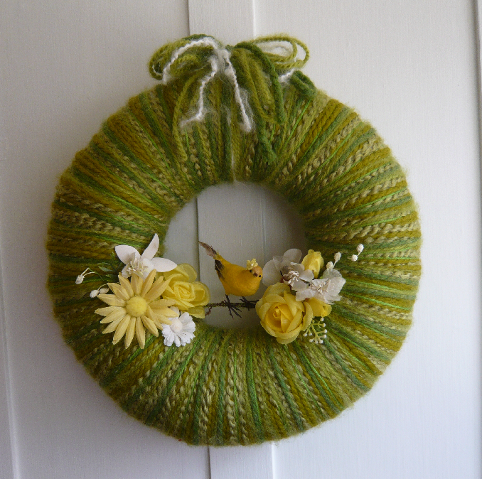Miss Bird Yarn Wreath