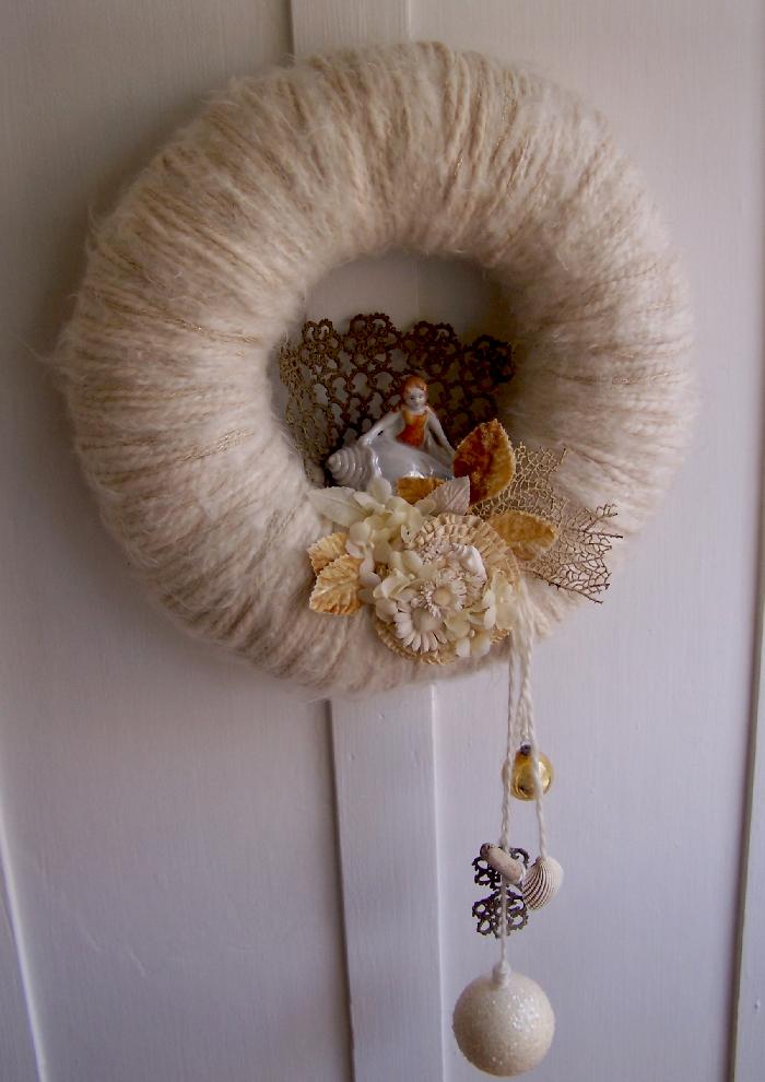 Sea Siren Yarn Wreath