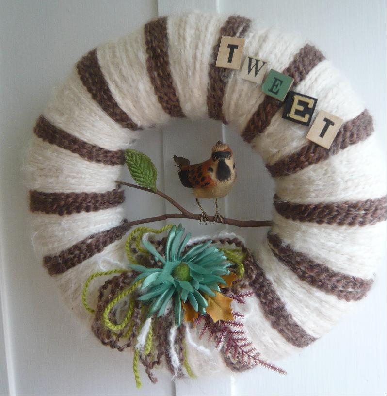 Tweet & Yarn Wreath