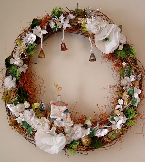 Winter Home Twig Wreath