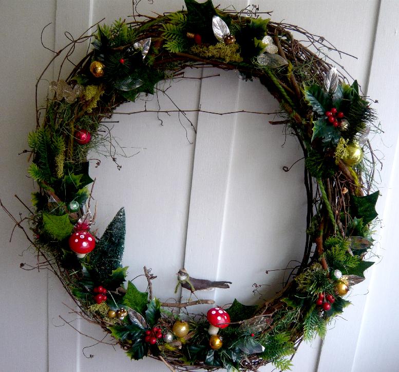 Holiday Twig & Bird Wreath