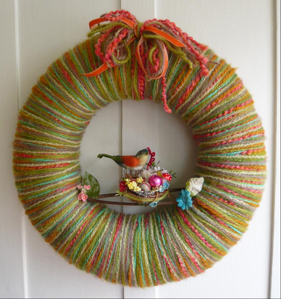 Nest & Neon Yarn Wreath