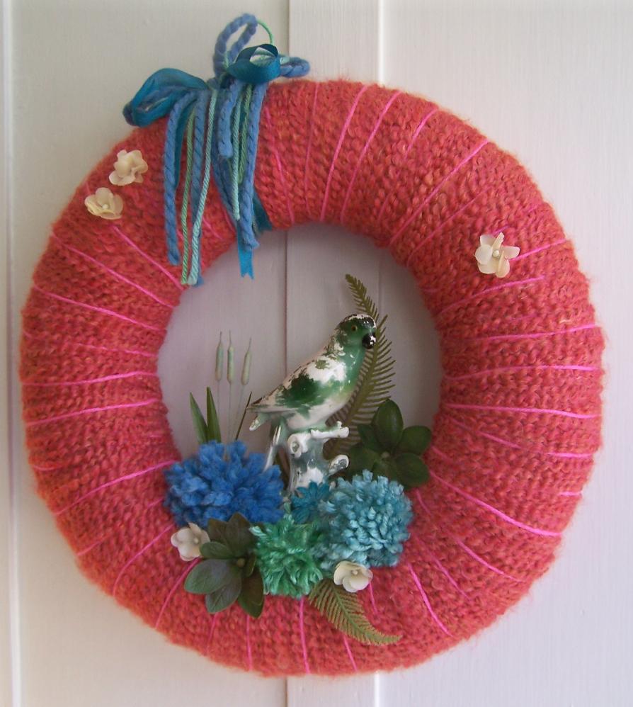 Parrot & Yarn Wreath