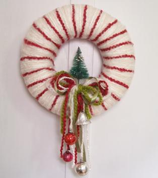 Peppermint Stripe Wreath