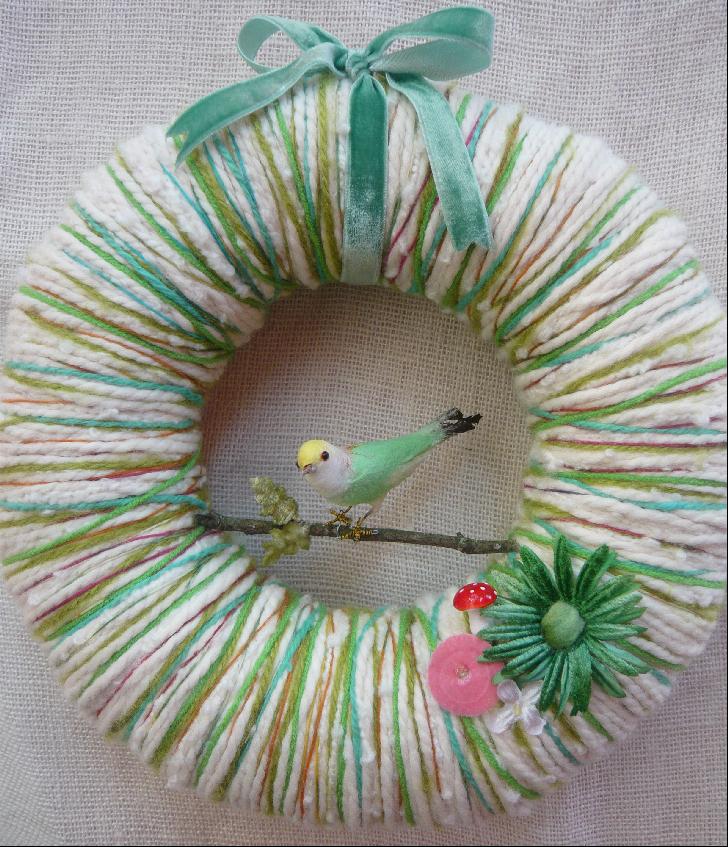 Year of Color Yarn Wreath