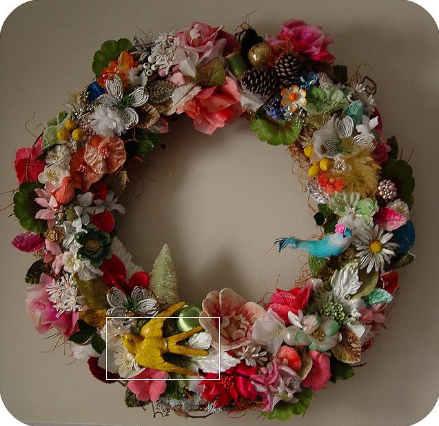 She Wore Birds & Flowers Nest Wreath