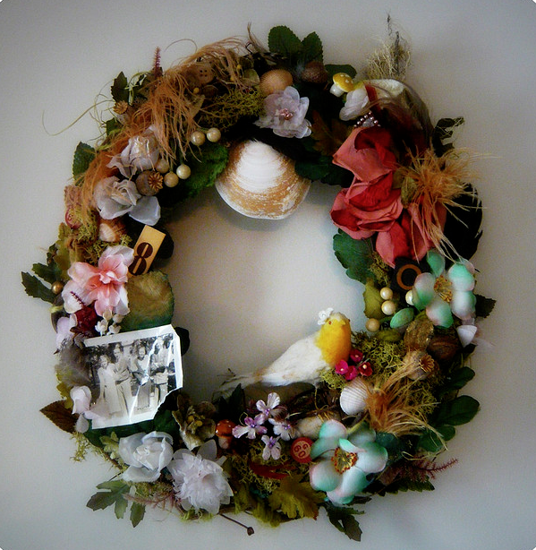 Feather & Baubles Nest Wreath