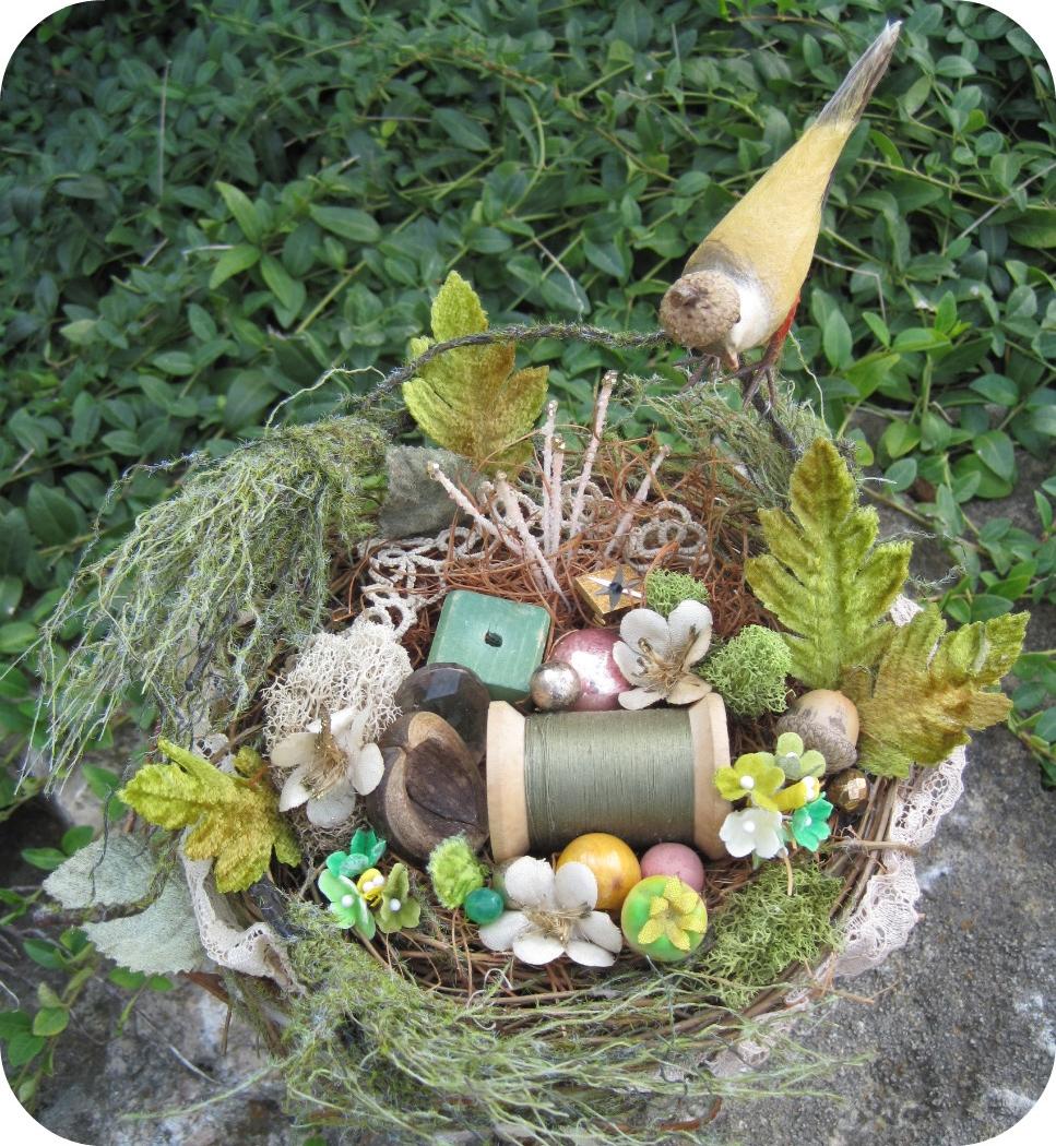 Art & Found Nest (with Cherries), detail