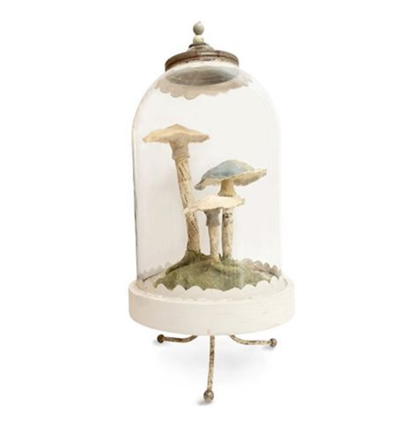 Untitled (Three Mushrooms) Bell Jar