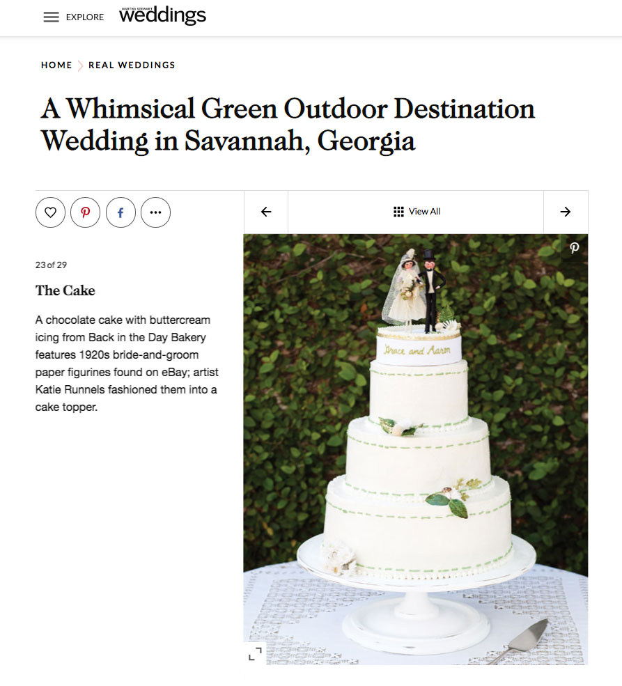 A Whimsical Green Outdoor Destination Wedding in Savannah, Georgia.