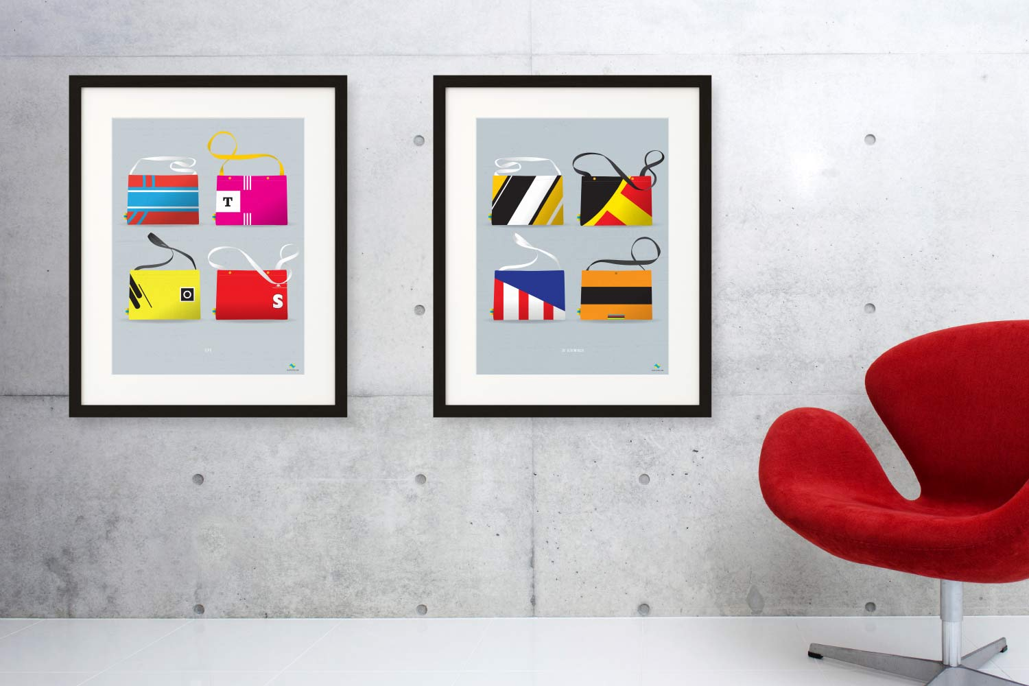 Musette Series of cycling prints