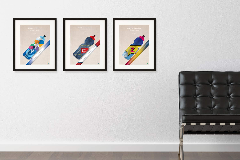 Bidon Battles Print Series by veloposters.com