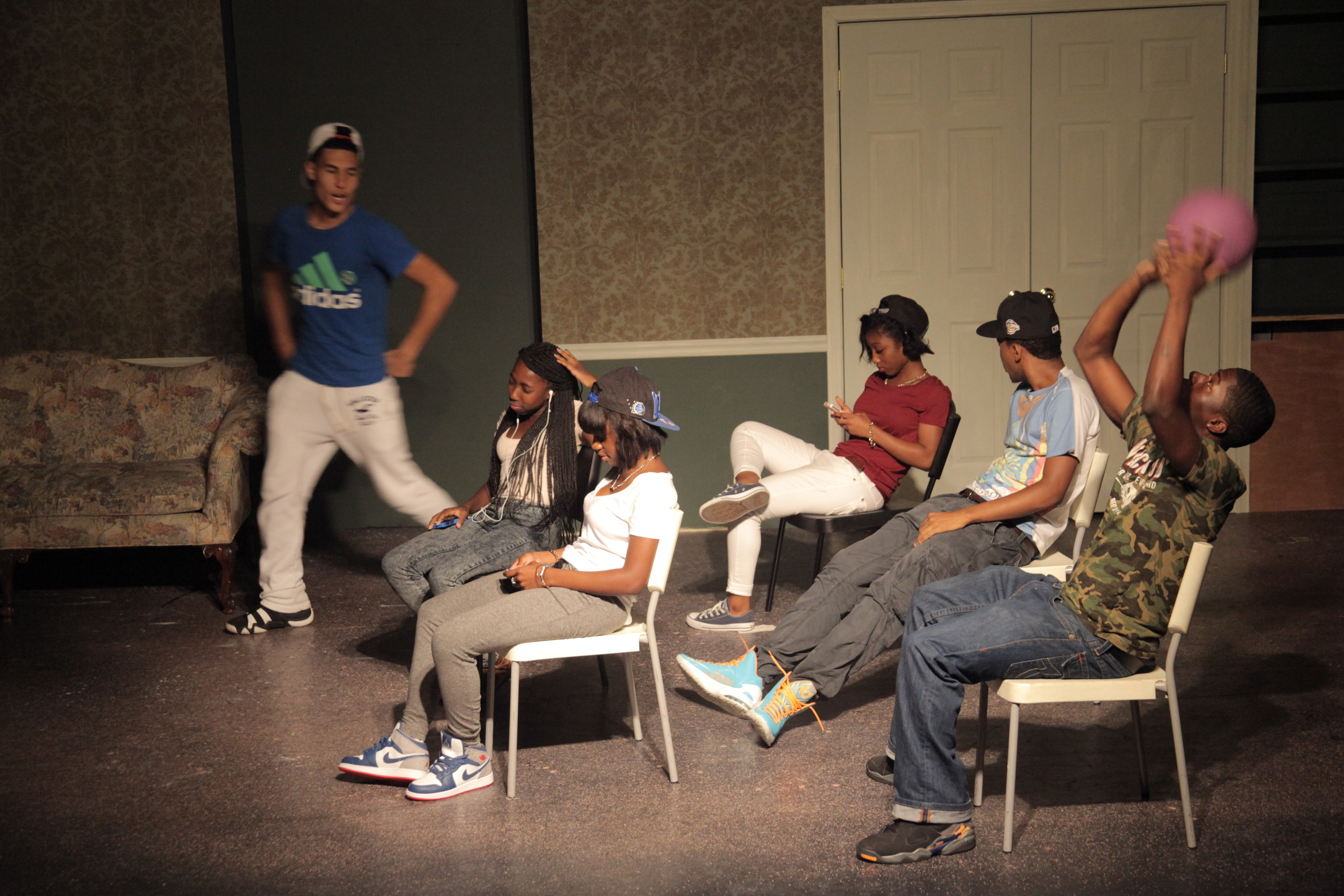 Theater at the last summer open mic.