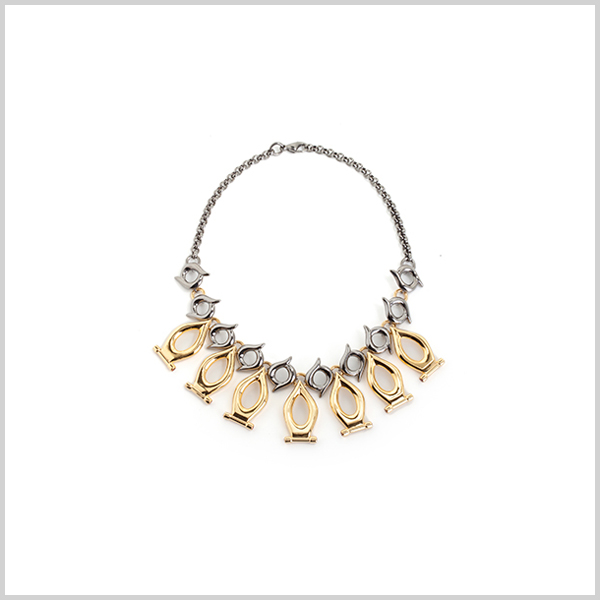 The swarm of the fireflies - £1350   Silver plated in 18k gold and black rhodium, embellished with fire opals
