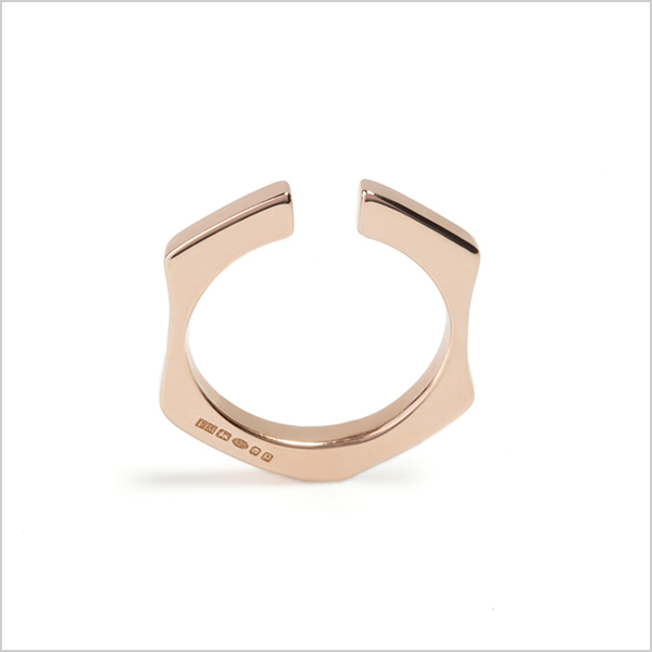 Hope stacking ring plain £95    Silver plated in rose gold