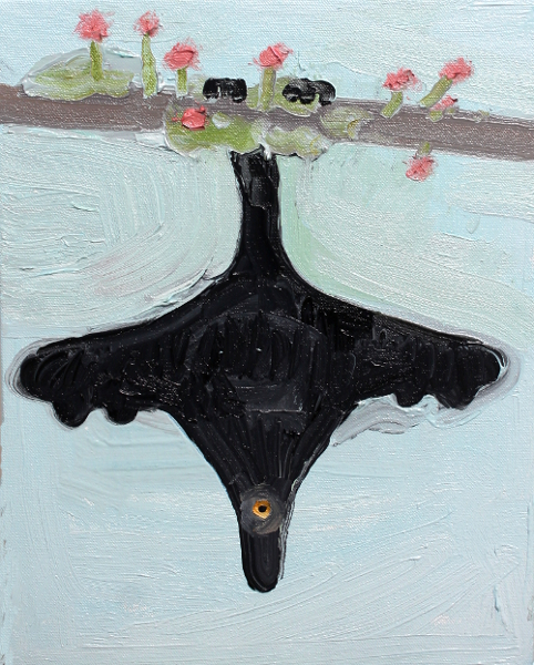 Bat 2, 2014, oil on canvas, 14 x 11 inches