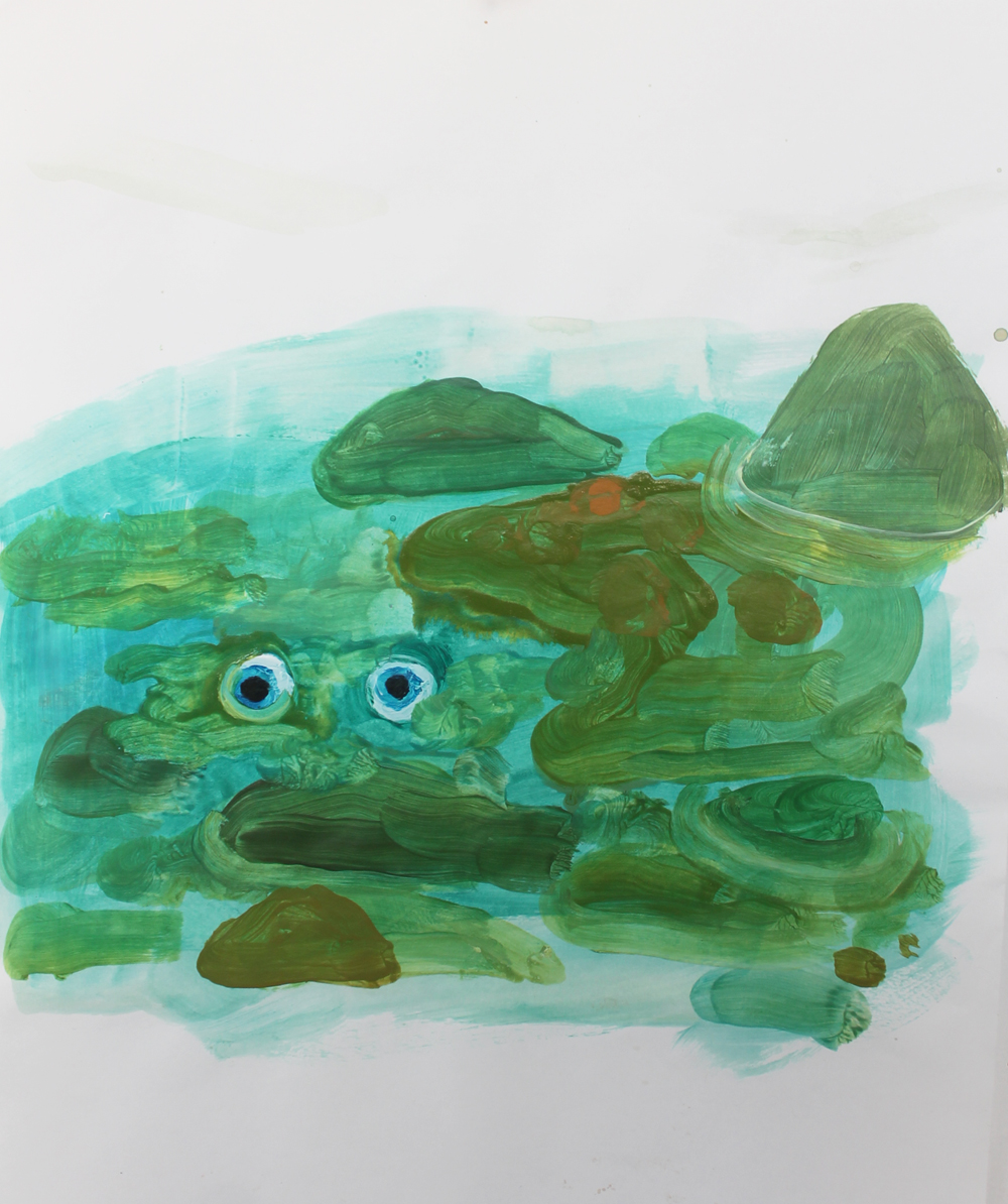 Drowned Man , 2014, Acrylic on Paper, 11 x 14 inches