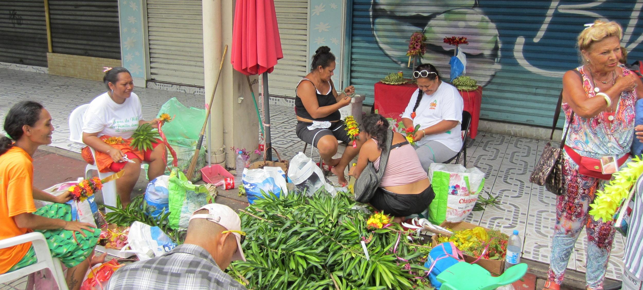 Papeete Flower Crown Weavers.JPG